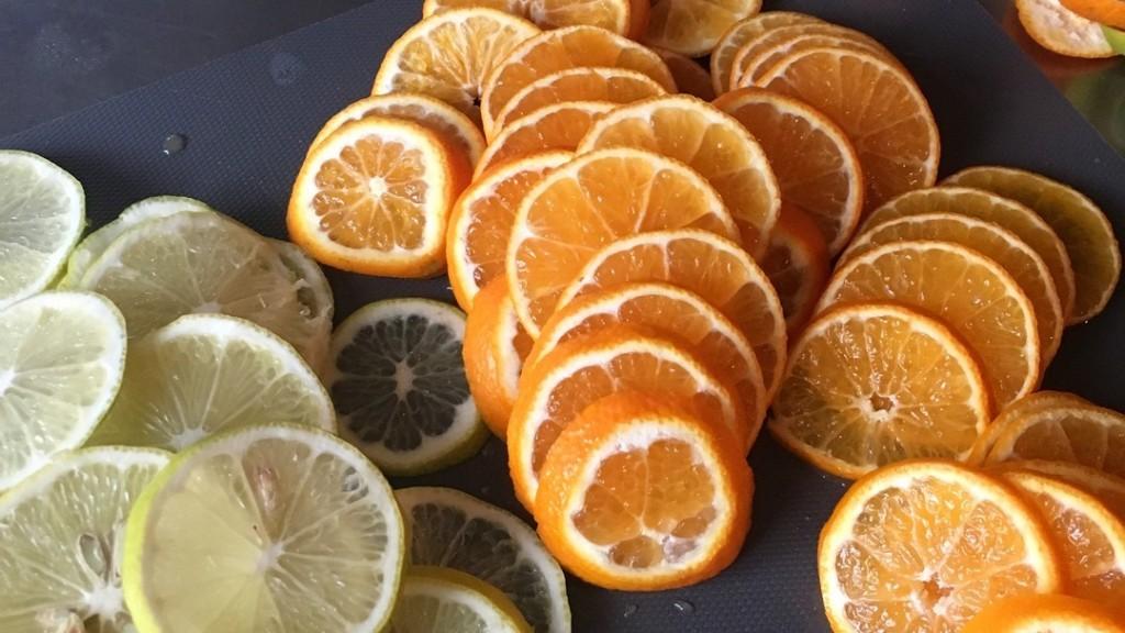 citron clémentine tranche