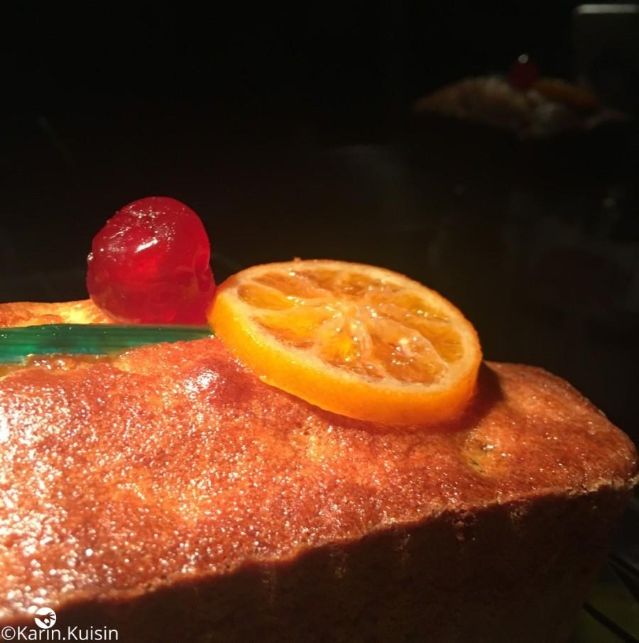 Décoration du Cake Aux Fruits de Jacques Génin
