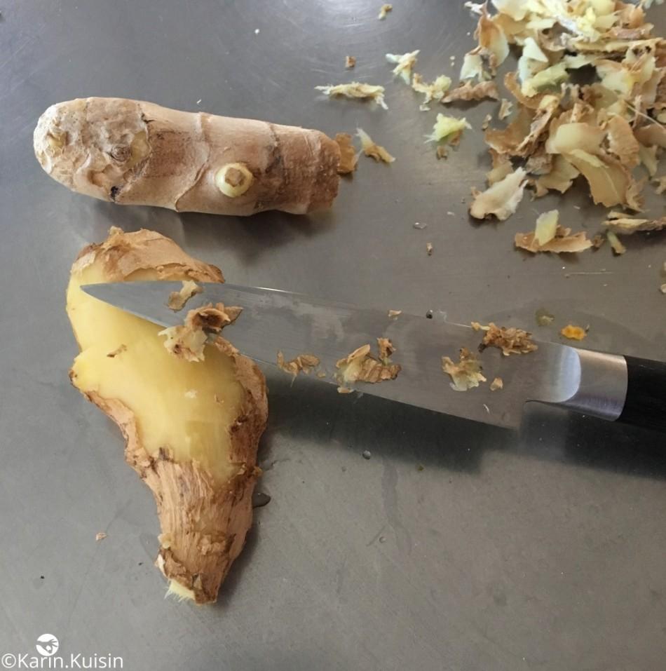 gingembre éplucher