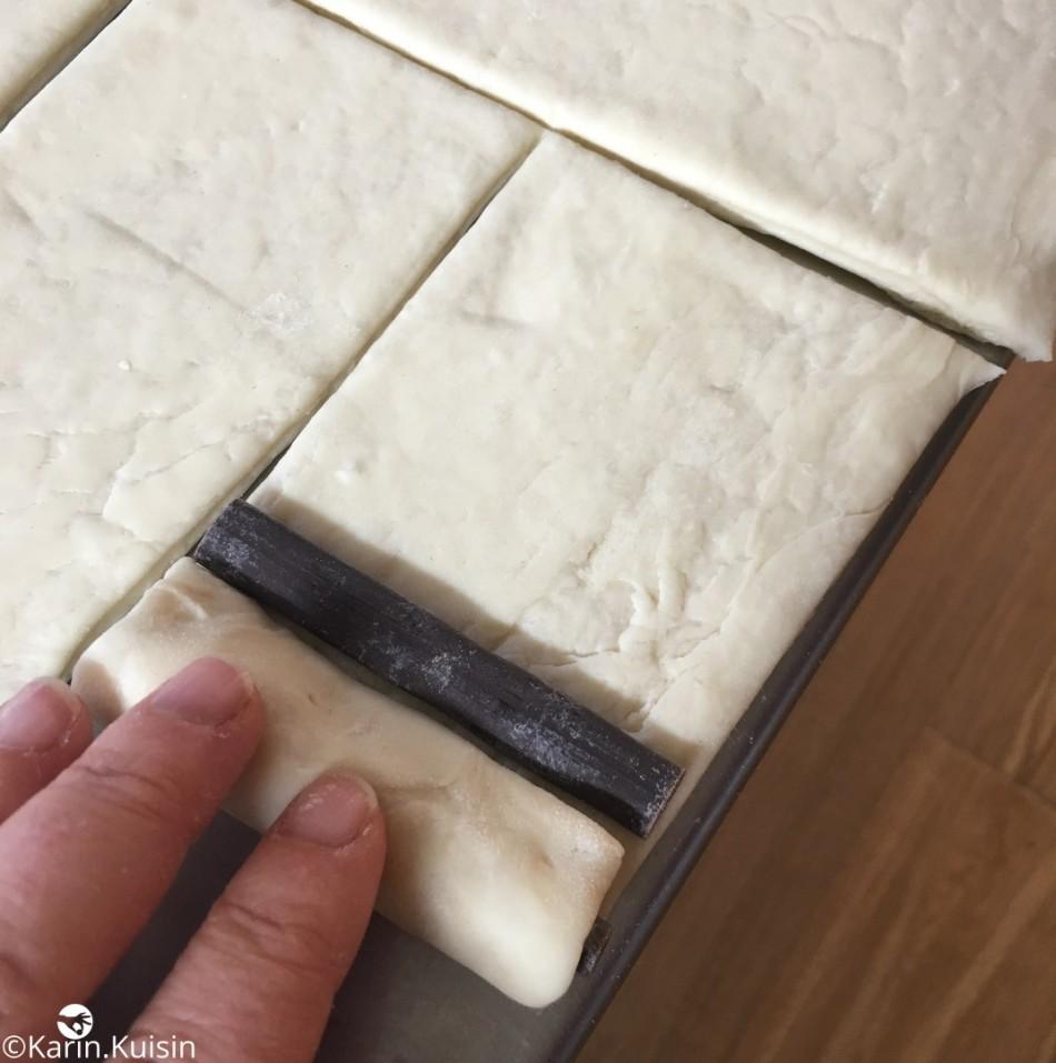 pâte feuilletée levée PLF détailler pain chocolat