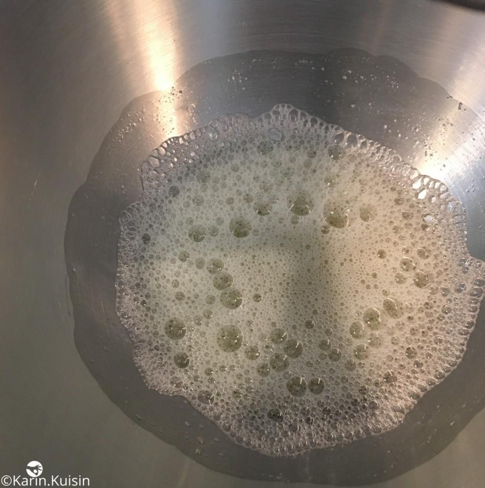 bol blanc d'œuf sucre