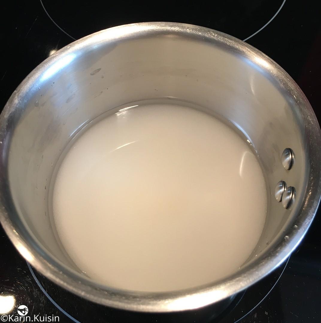 sucre eau sirop cuisson