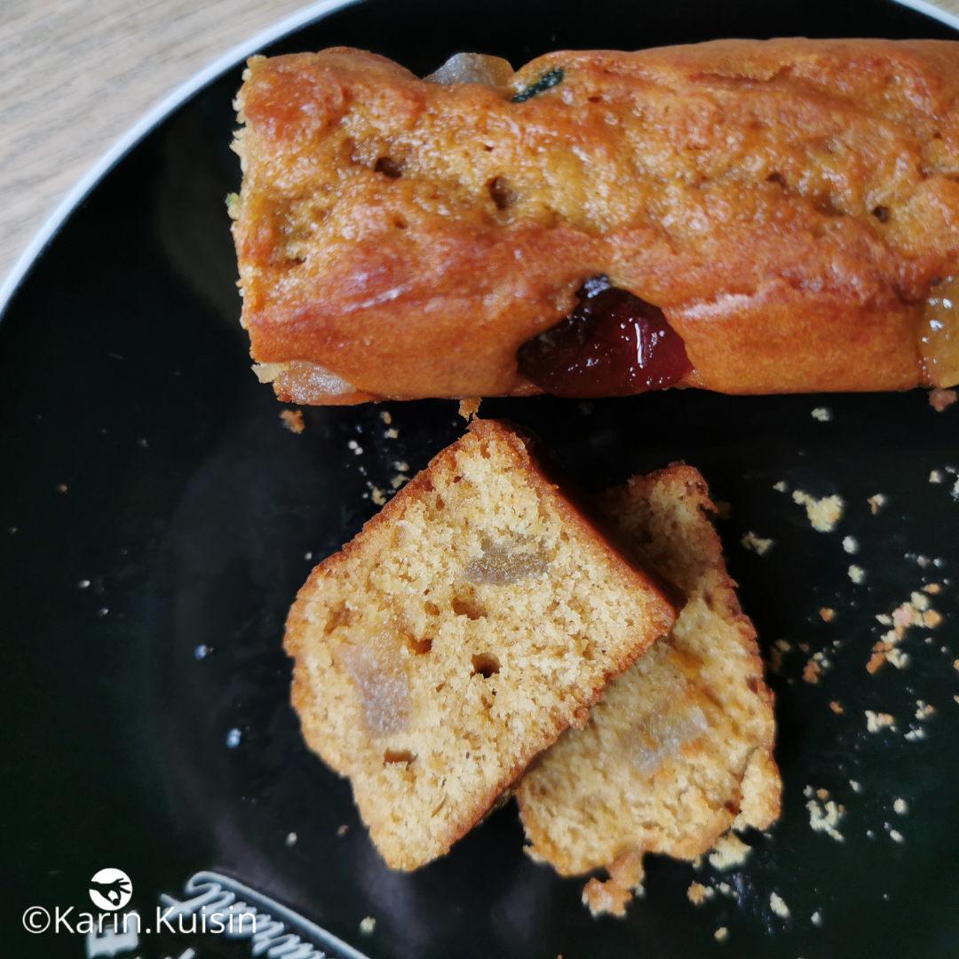 Cake au levain, aux fruits confits